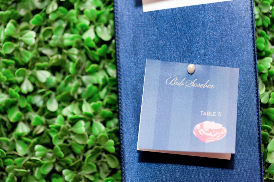 escort cards to match the wedding signage and stationery