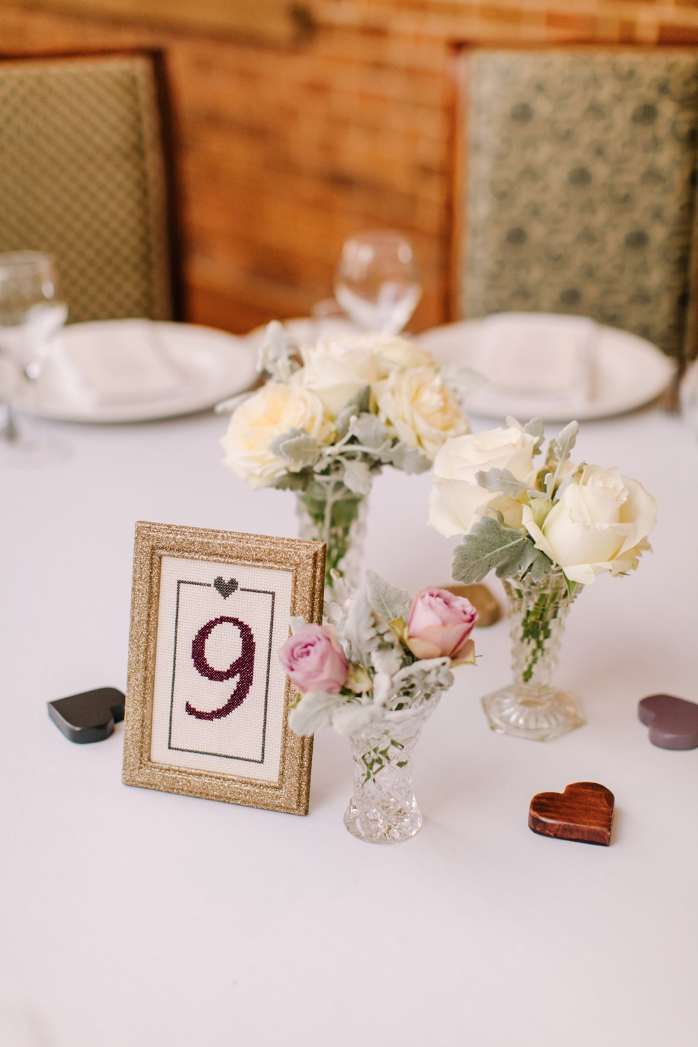 cross stitch wedding table numbers