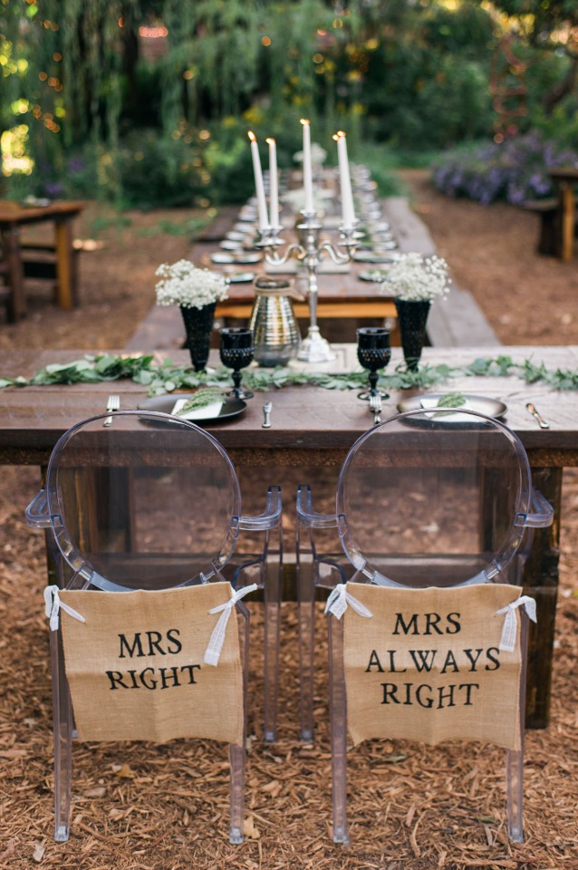 super cute wedding seat signs