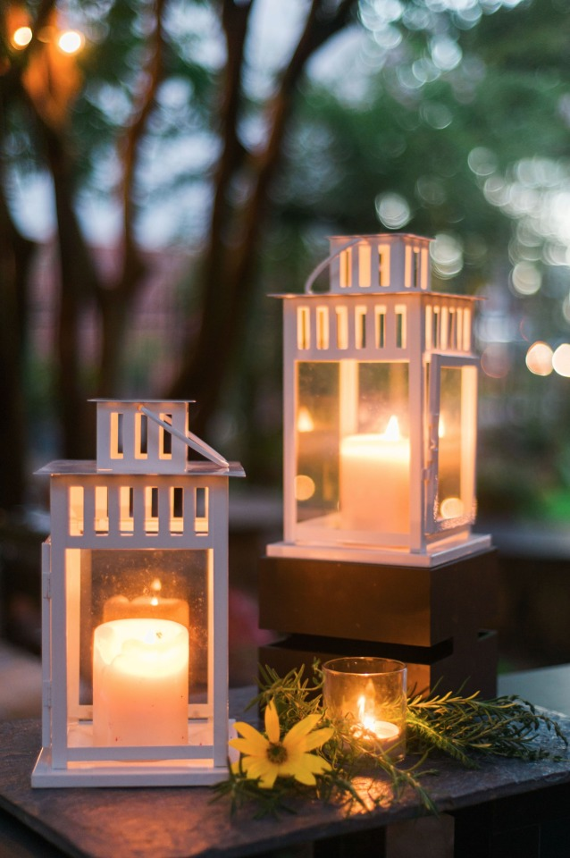 glowing lanterns to light up the night
