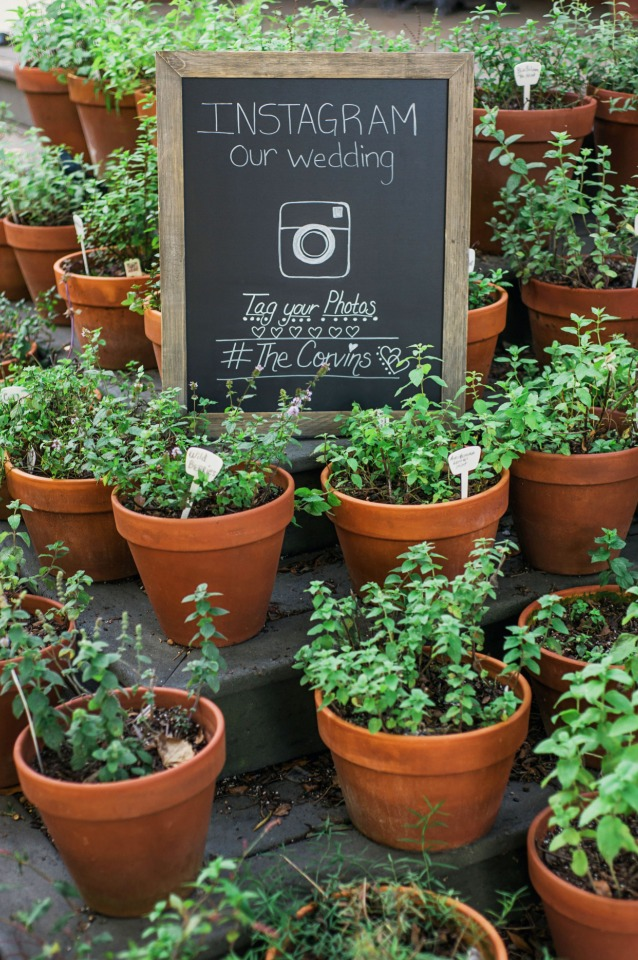 cute framed chalkboard instagram sign