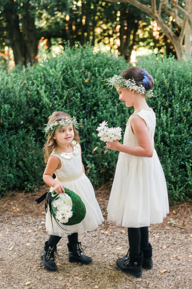 cute alternative flower girl look