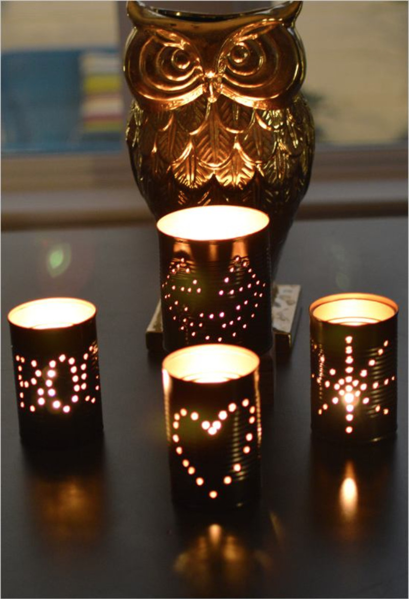How to make tin can lanterns - How To Make Tin Can Lanterns 21