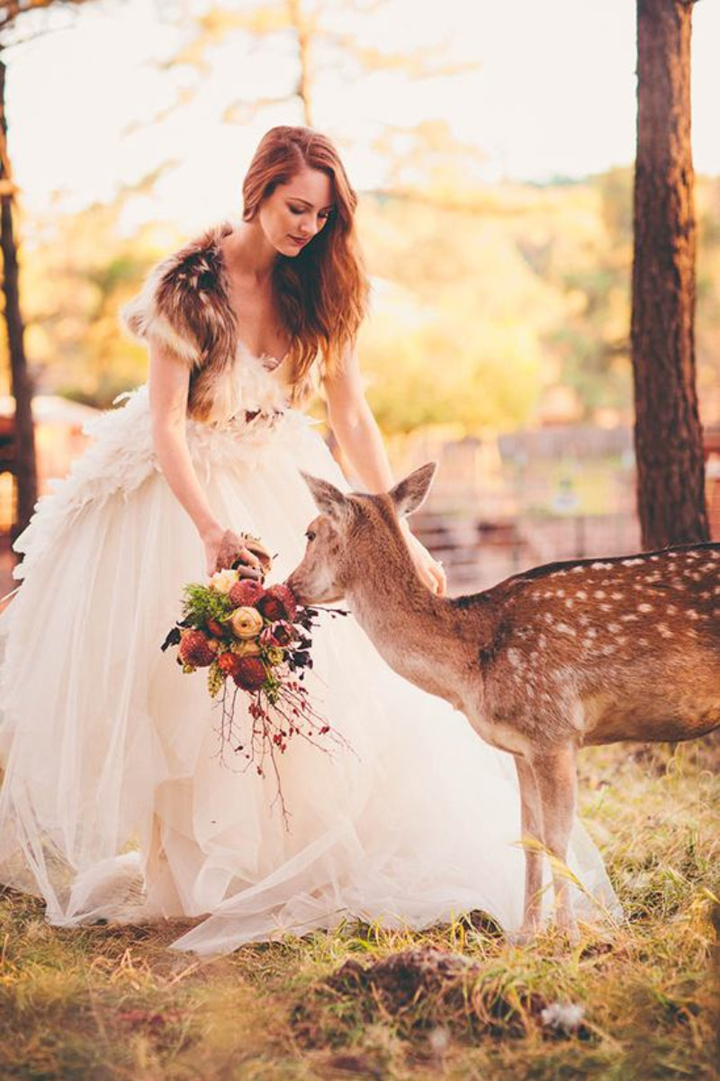 Bridal Portrait Ideas In The Woods