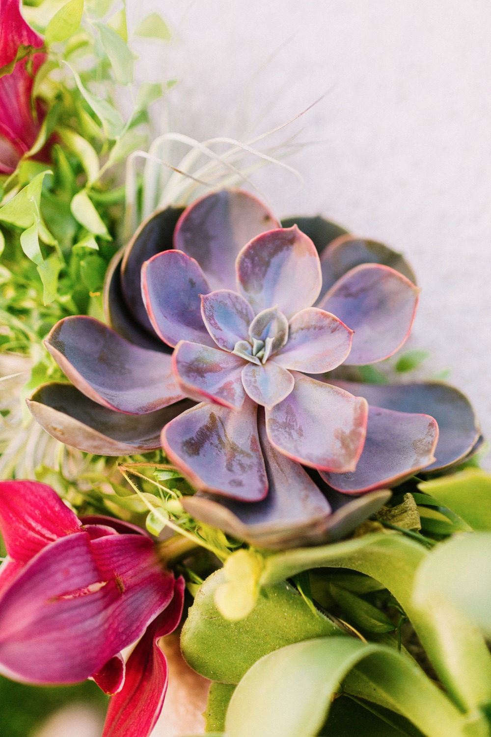 Ceremony florals and succulents