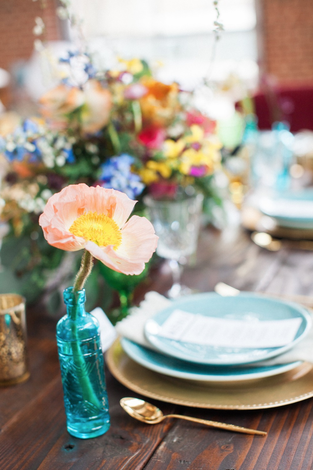 Centerpiece decor and details