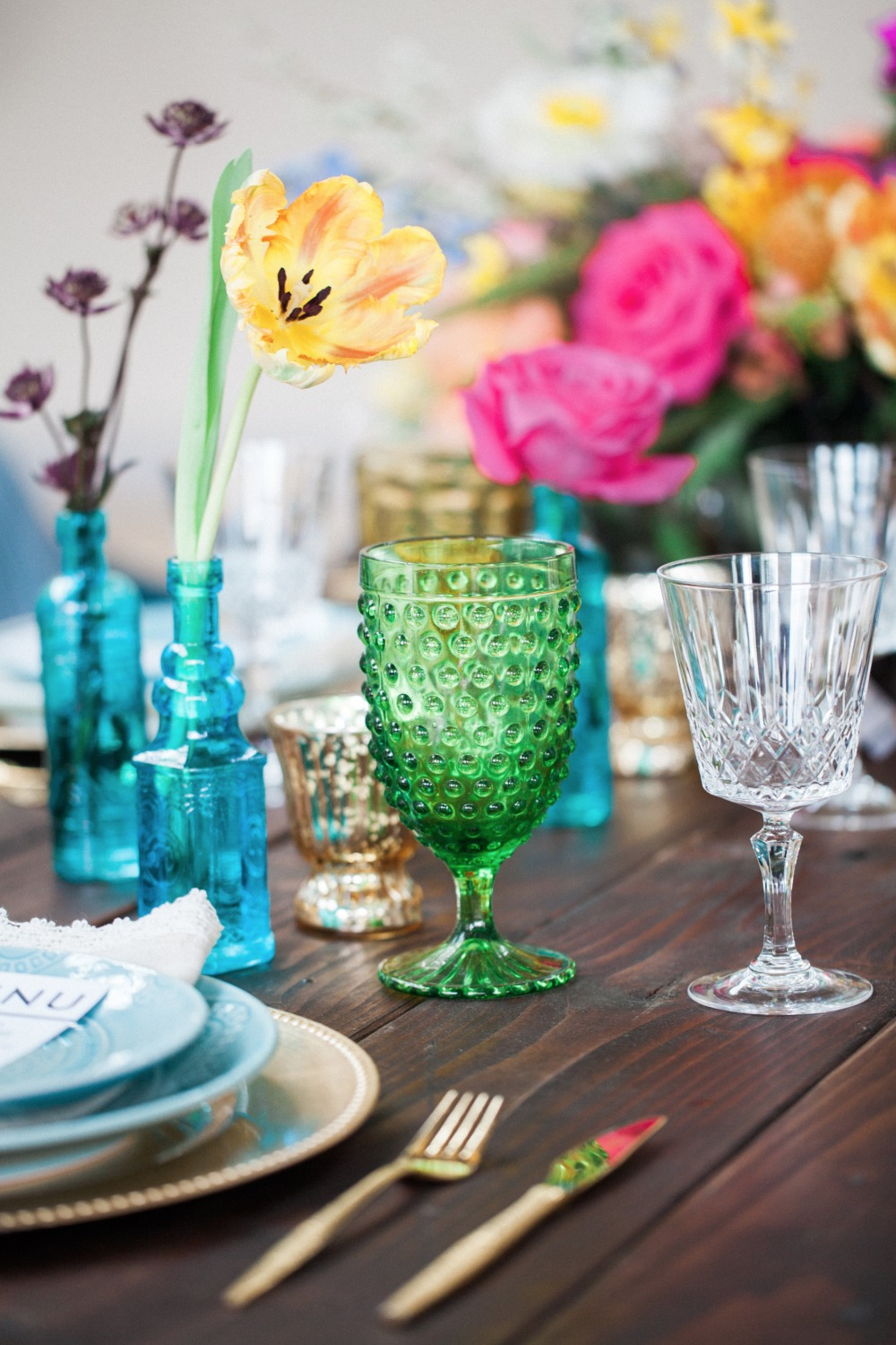 Mix n match reception glassware