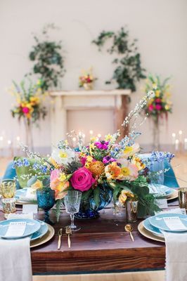 Colorful Vintage Wedding Ideas