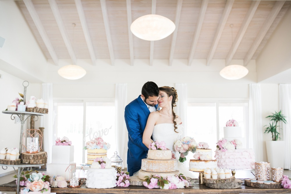 dessert table with many different cake options