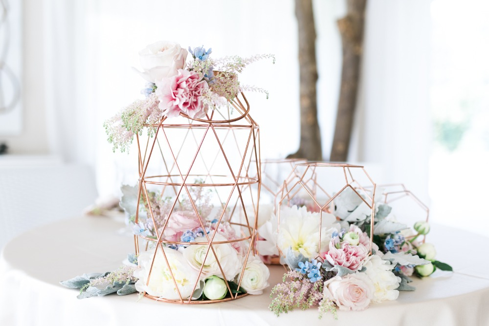 geometric centerpiece display