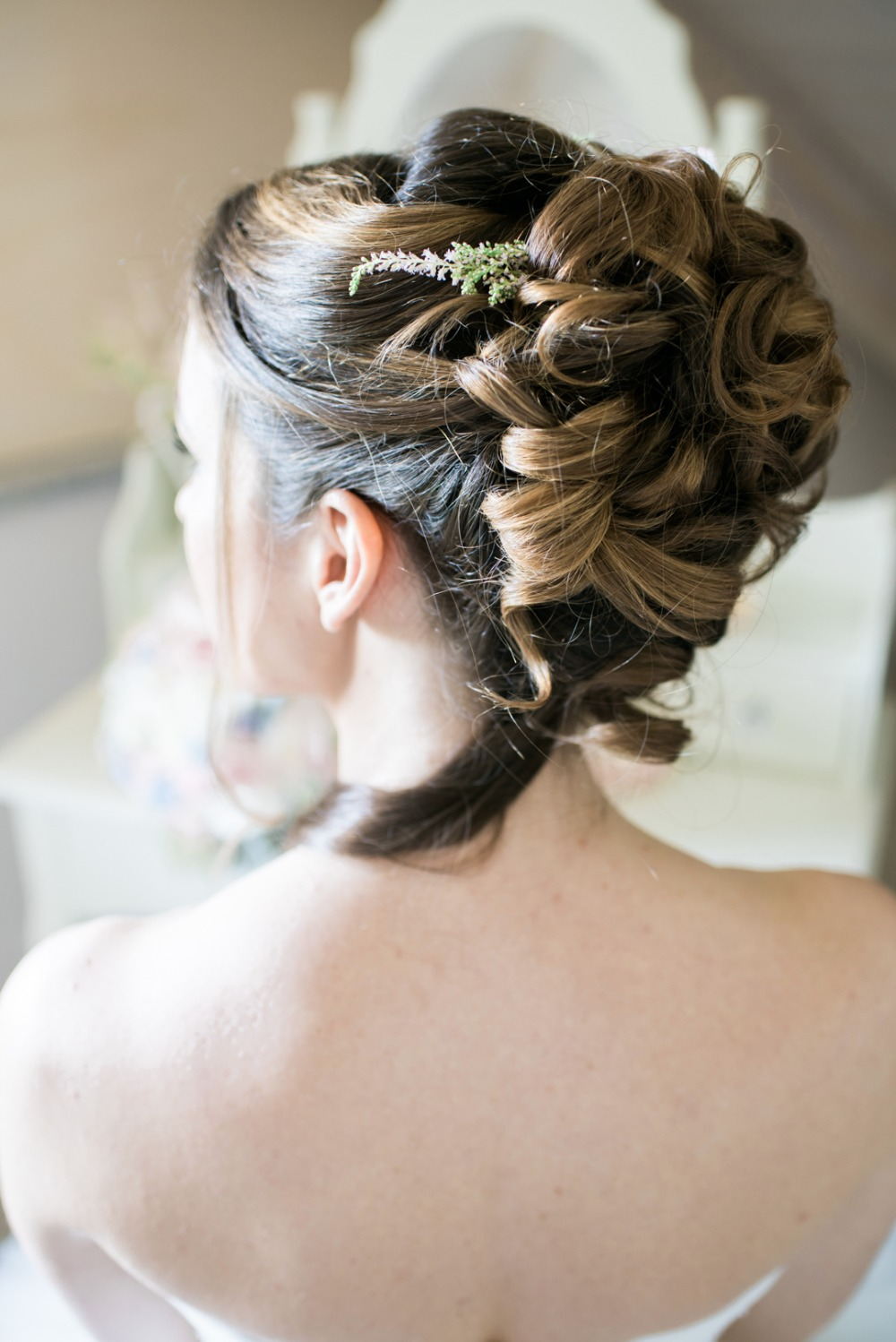 beautiful wedding hair updo idea