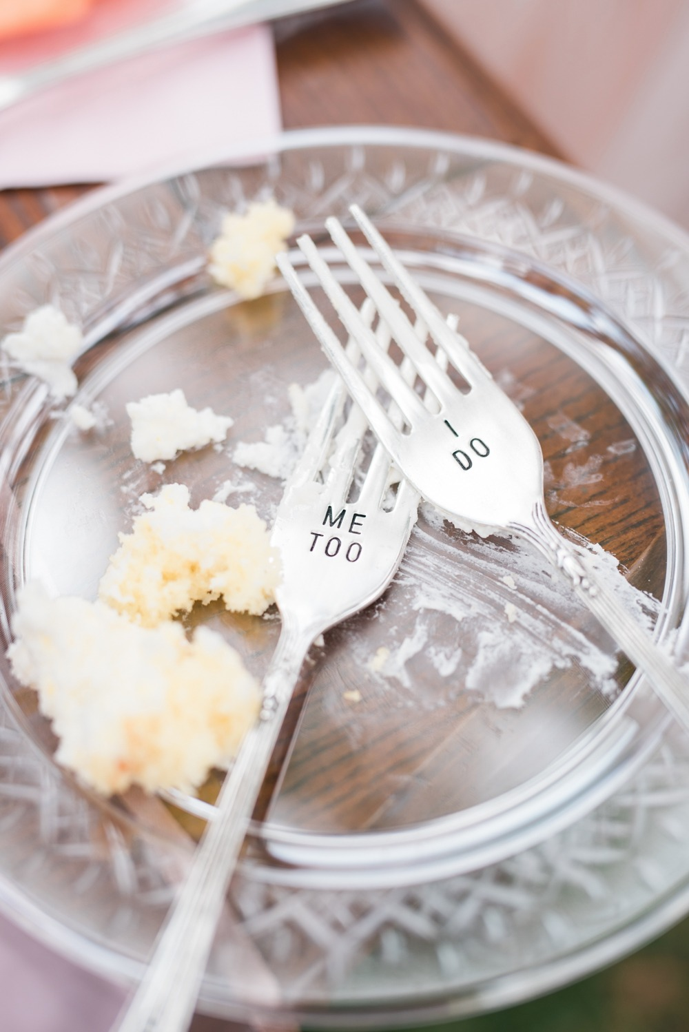 Custom wedding cake forks