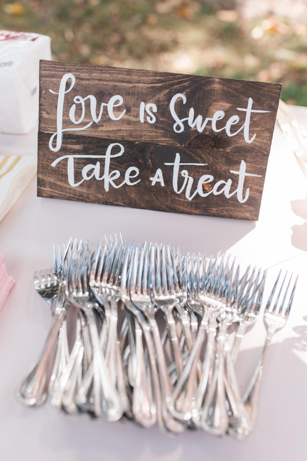 Dessert table wedding sign