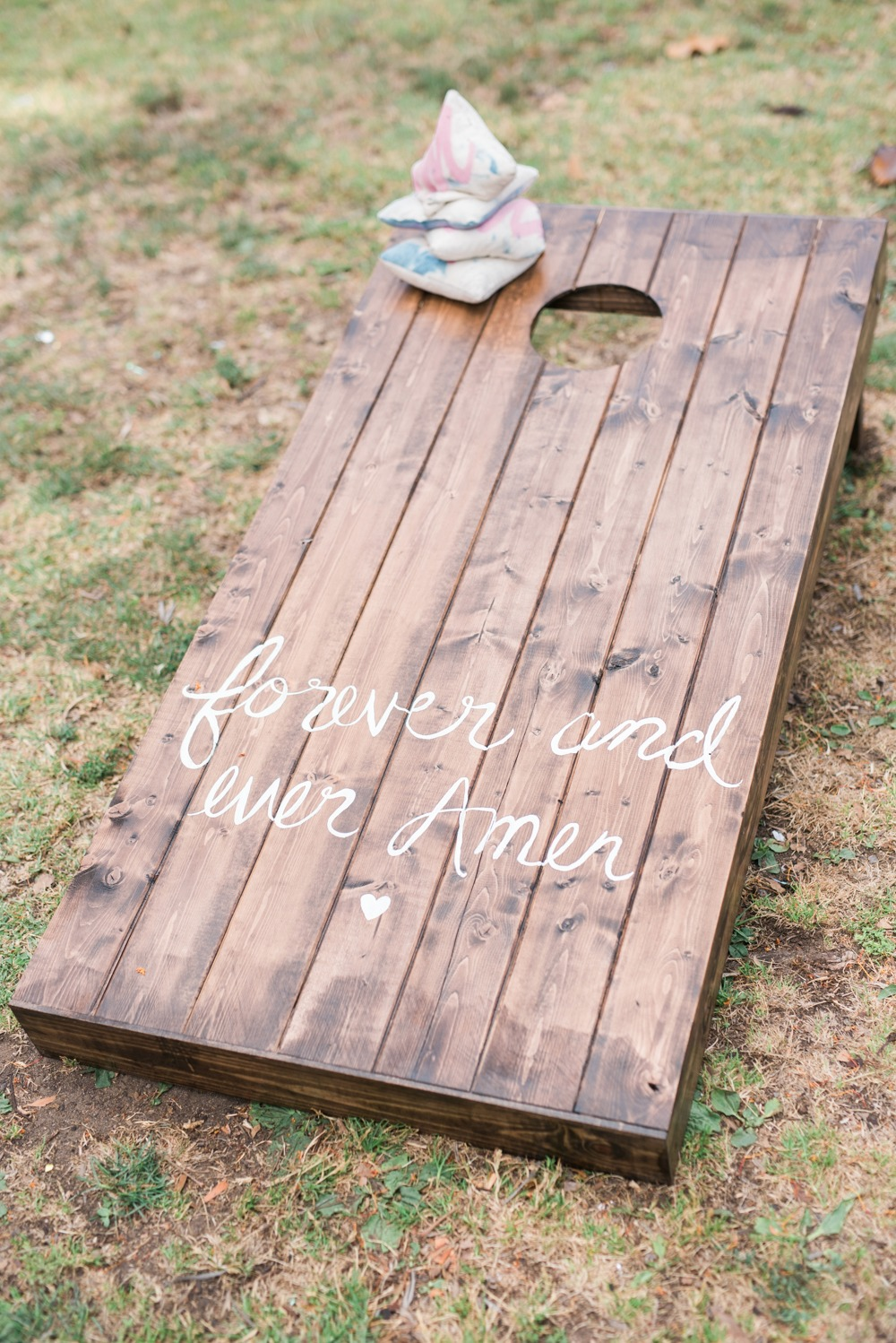 Custom corn hole wedding game