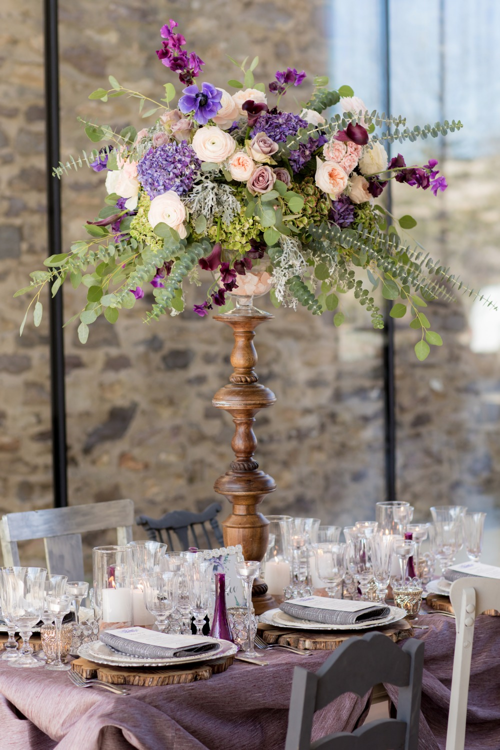 Gorgeous tall centerpiece