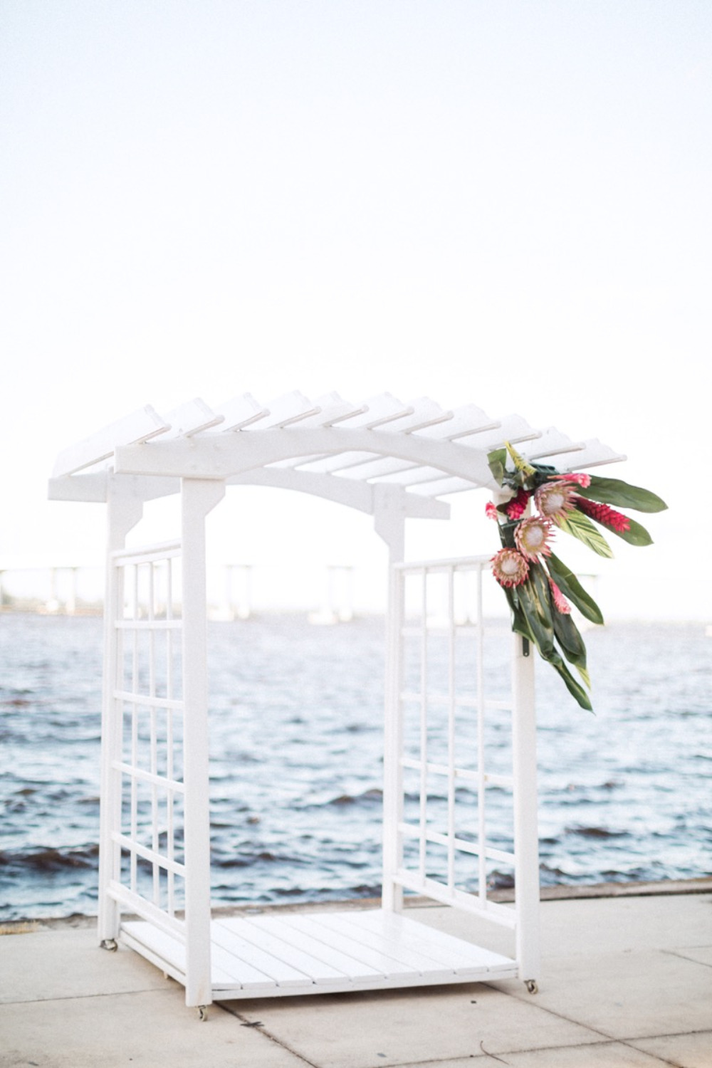 handmade wedding arbor
