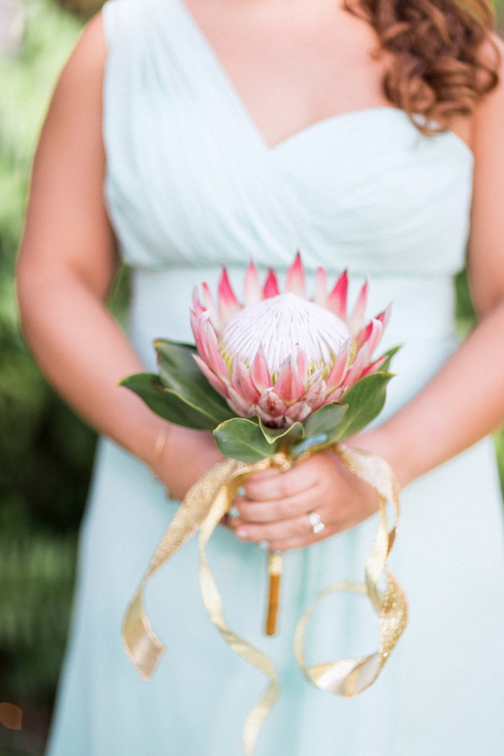 king protea bridesmaids bouquet