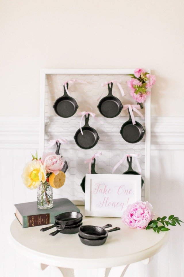 thank your guests with an adorable mini skillet