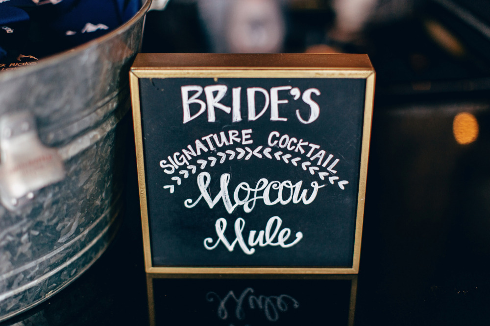 moscow mule drink sign