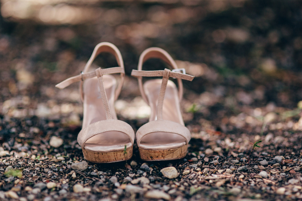 neutral wedding shoes