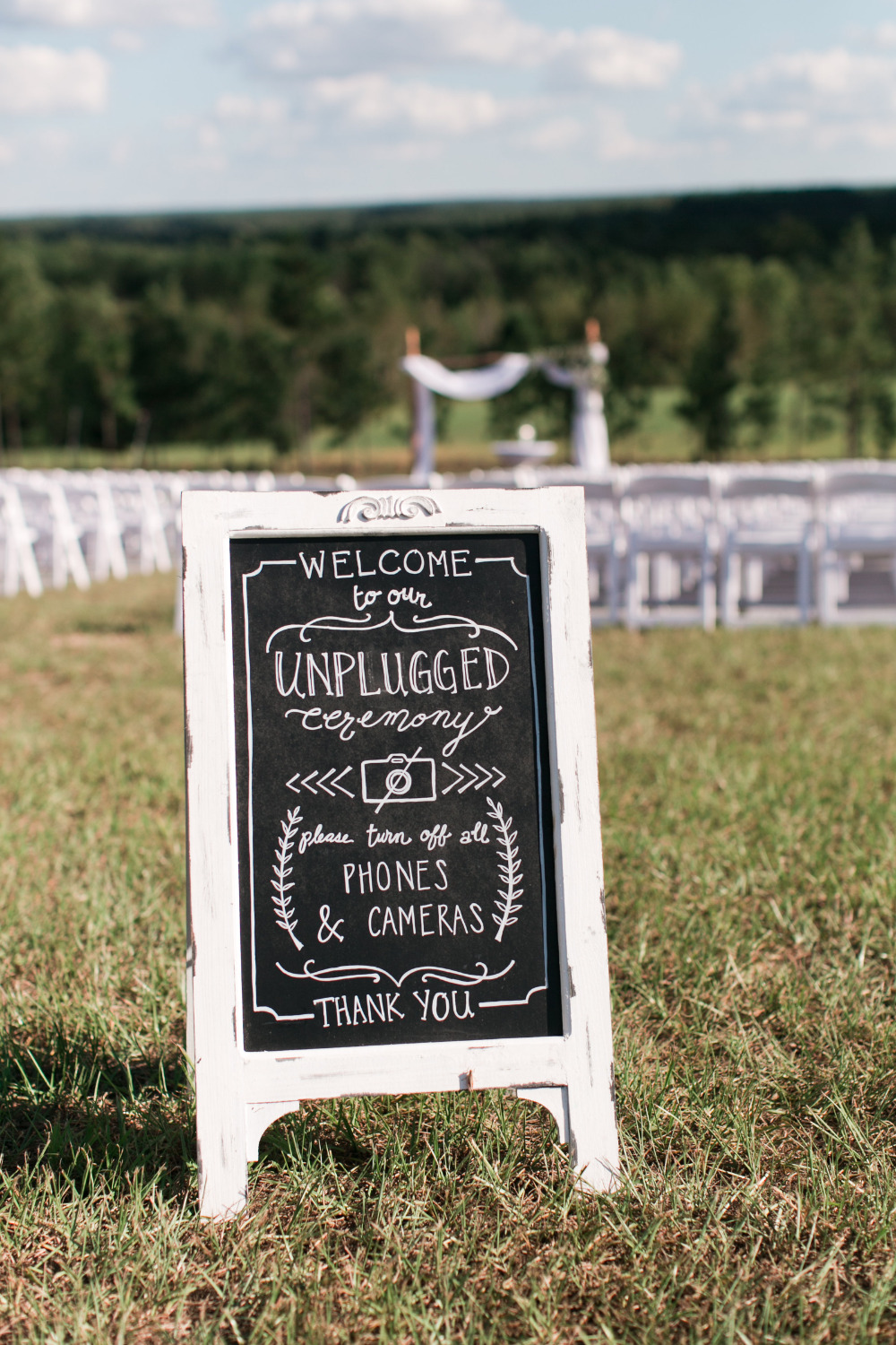 unpluggd chalkboard wedding sign