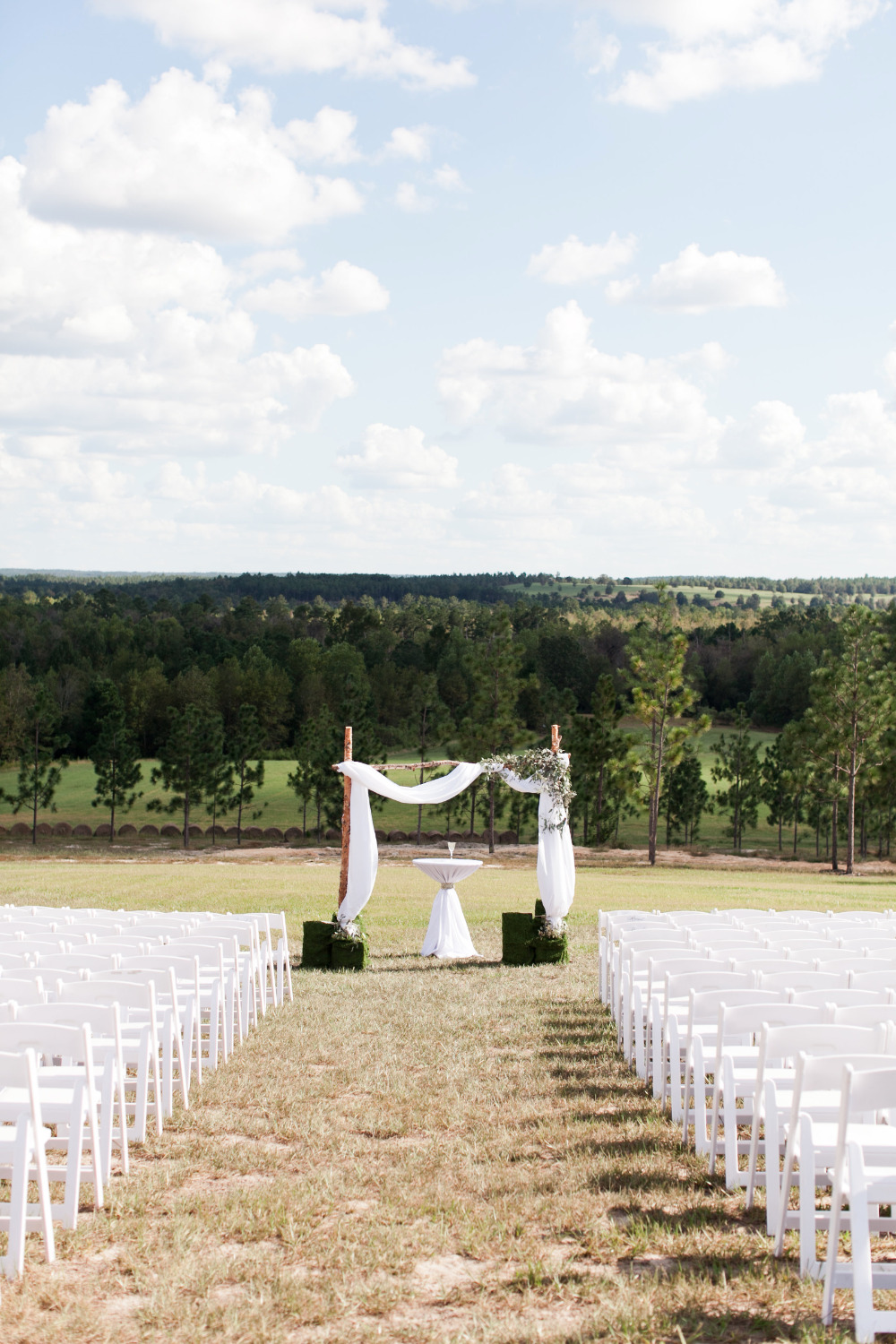 outdoor wedding ceremony on a beautiful day
