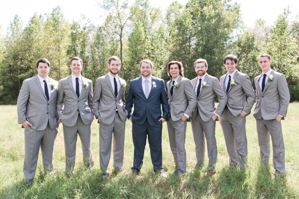 dashing grey groomsmen attire