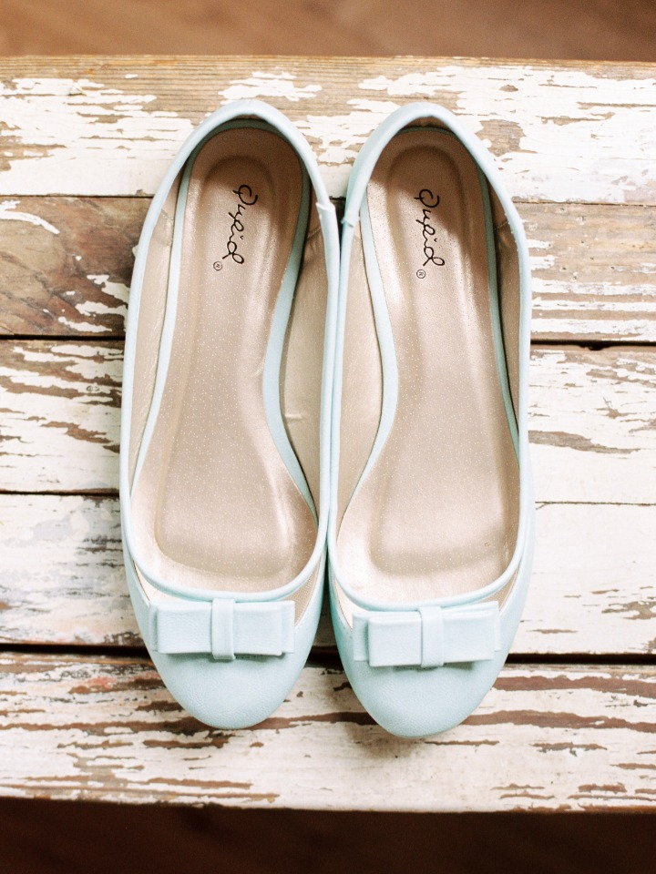 wedding flats in baby blue
