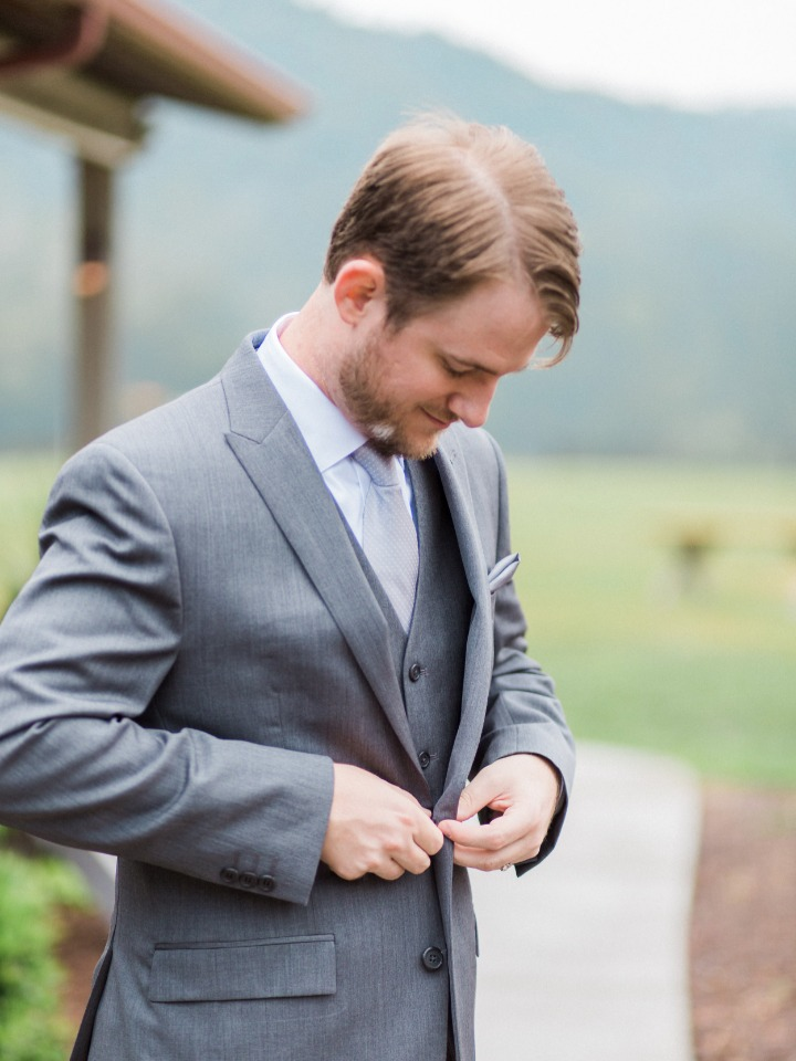 groom in shades of grey