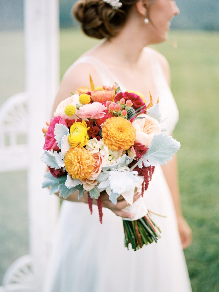 farm fresh flowers in delightfully bright colors
