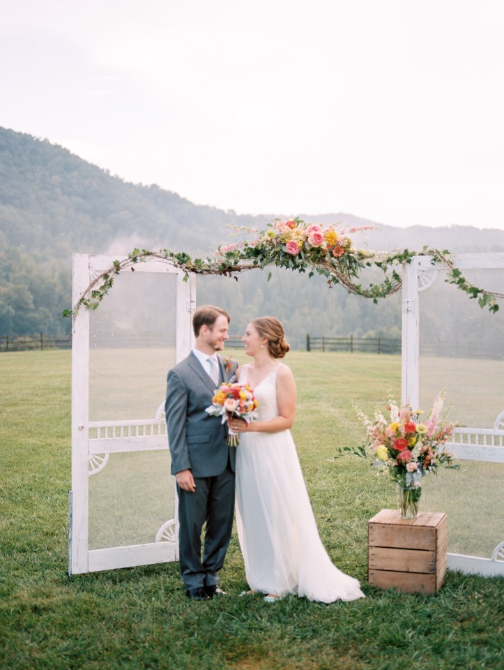 sweet and simple wedding backdrop