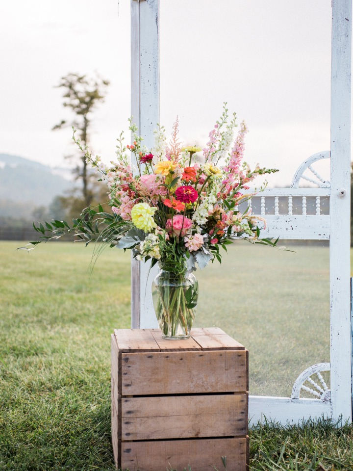 flower arrangement with a carefree attitude