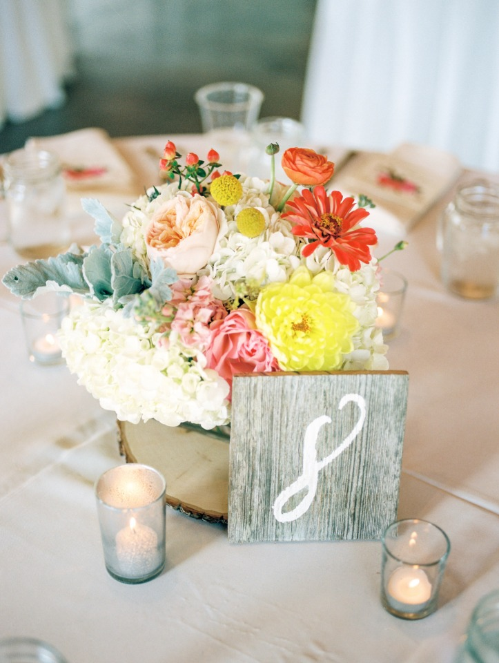 shabby chic table number idea