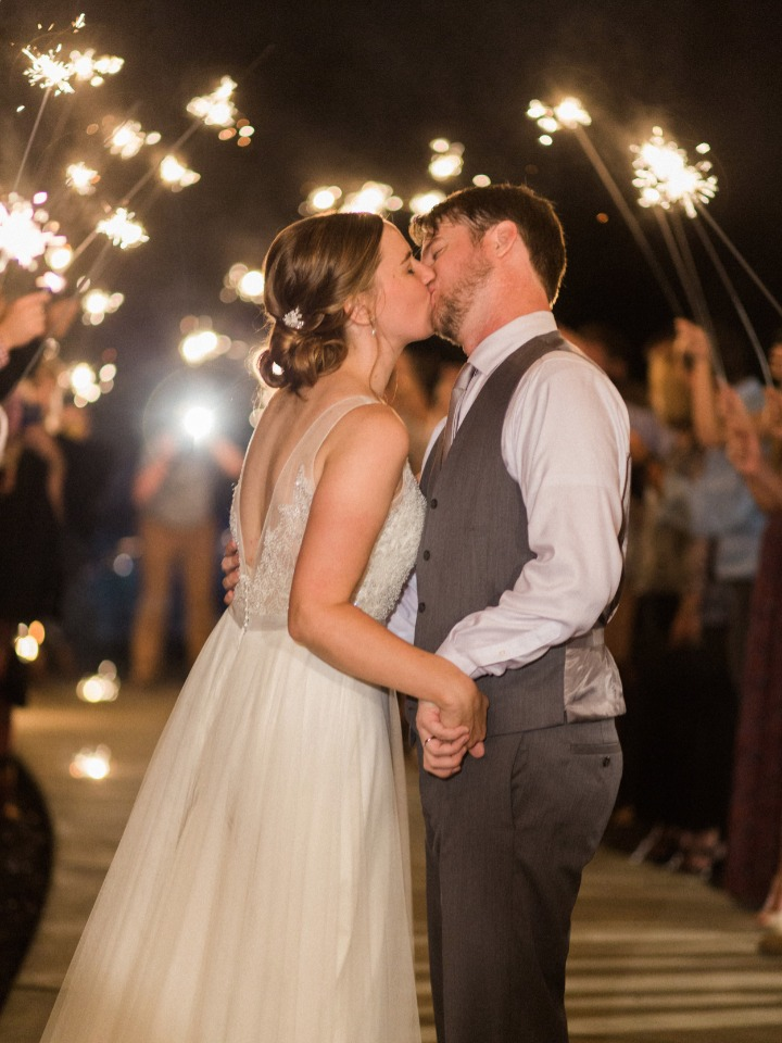 magical sparkler wedding exit