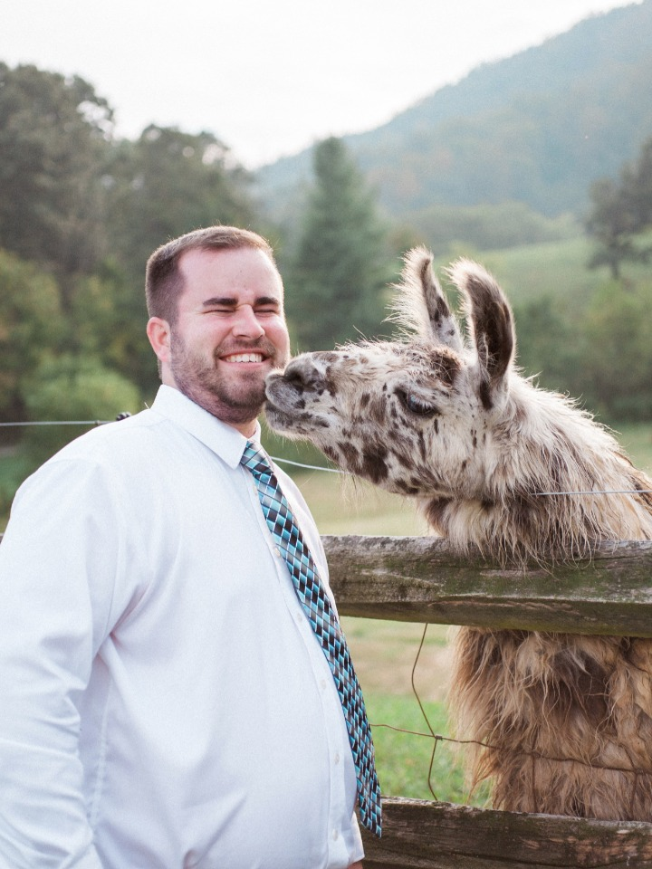 wedding kisses from the local wildlife
