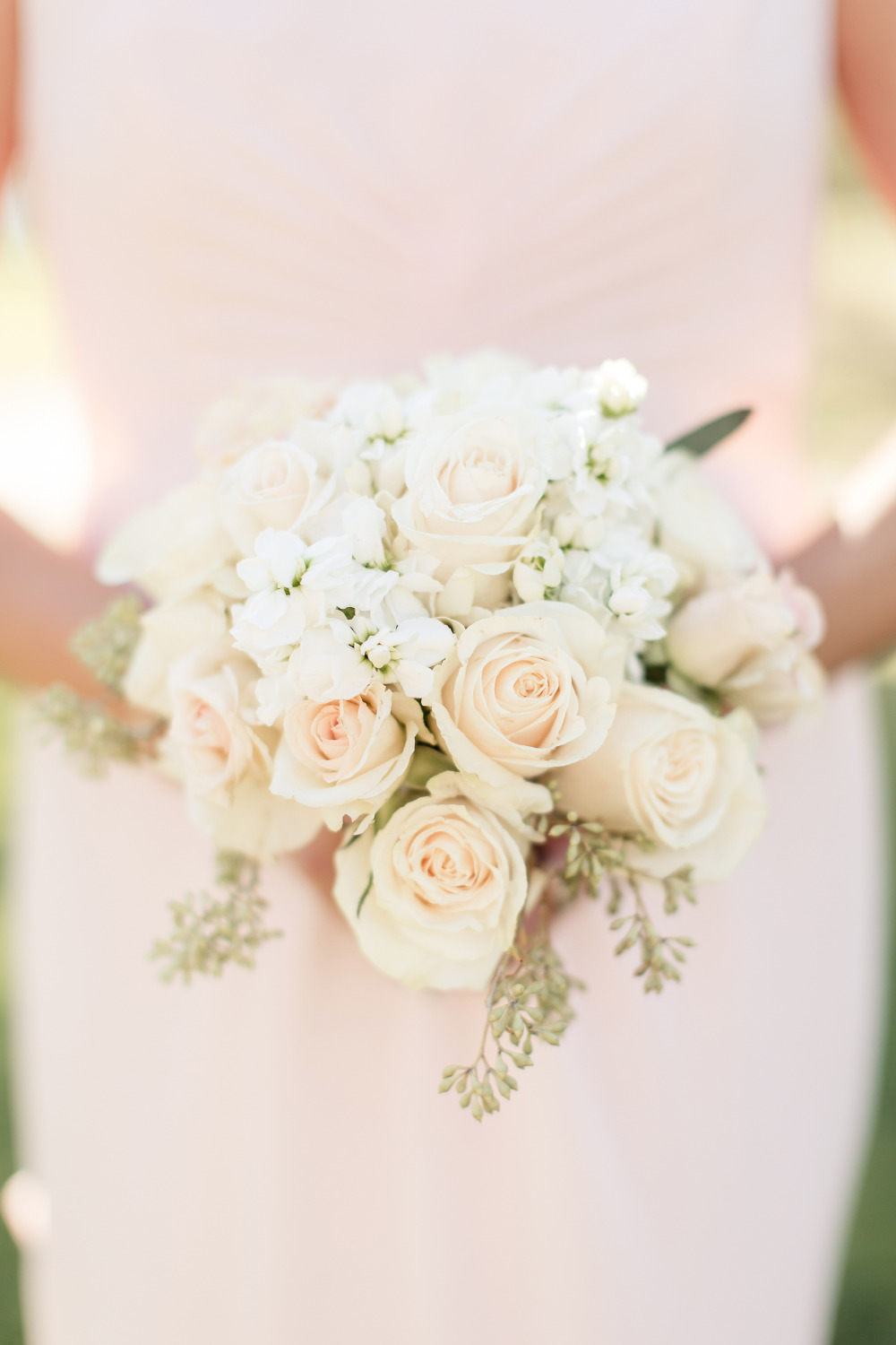 light pink rose bouquet