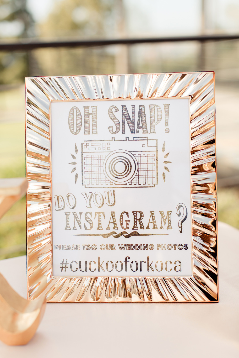 oh snap wedding instagram sign