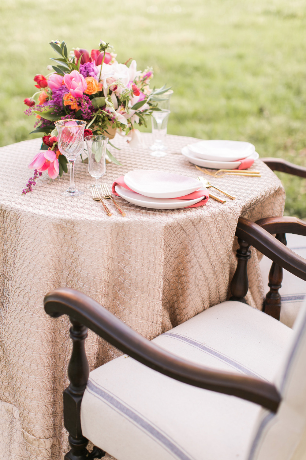 beautiful blush sweetheart table