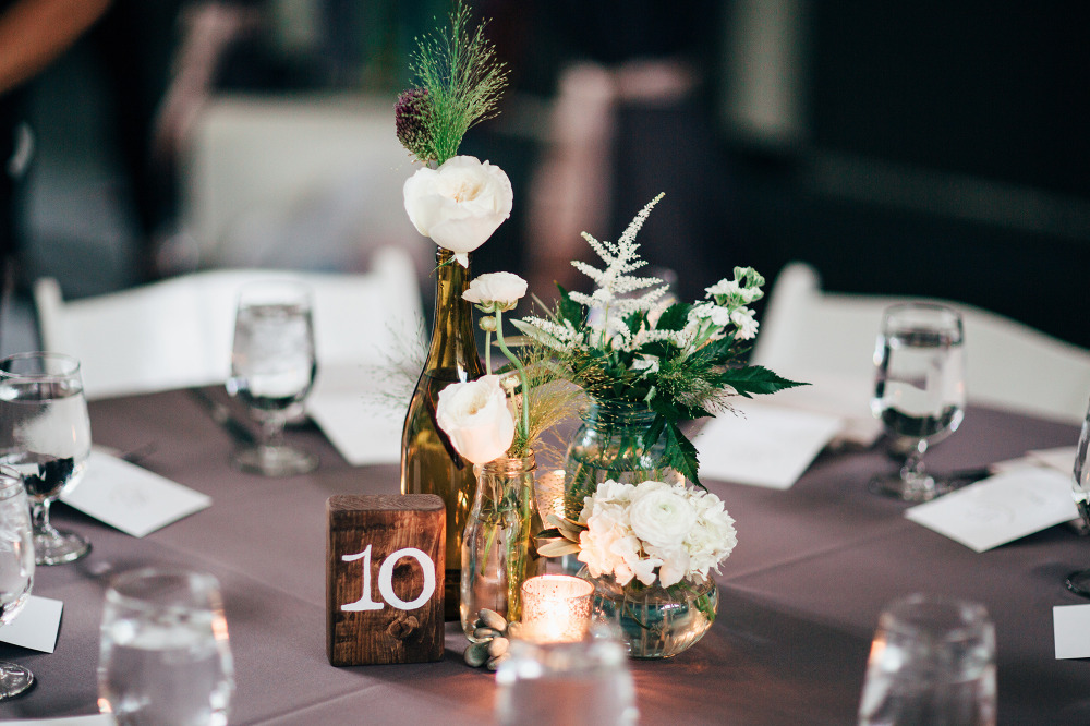 rustic purple reception ideas