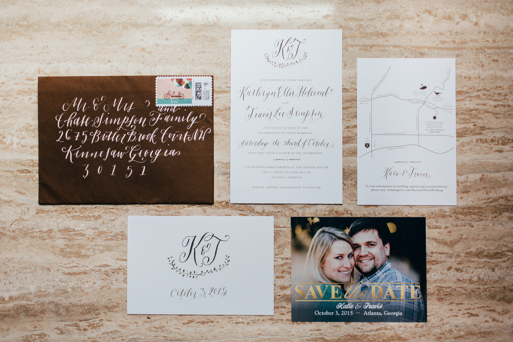 naturalistic wedding invittion suite