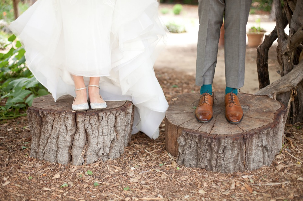 wedding shoes for the bride and groom
