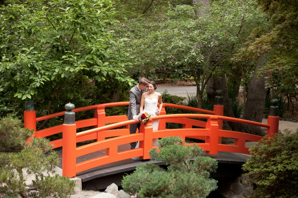 Japanese garden wedding photo ideas