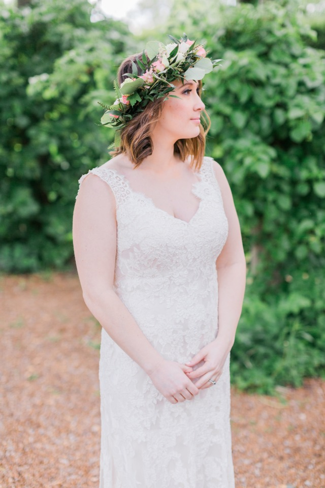 sweet boho style bridal look