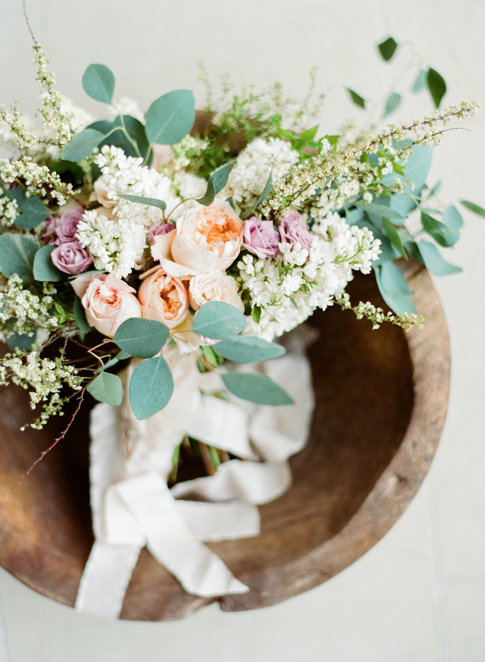gorgeous rose and greenery wedding bouquet