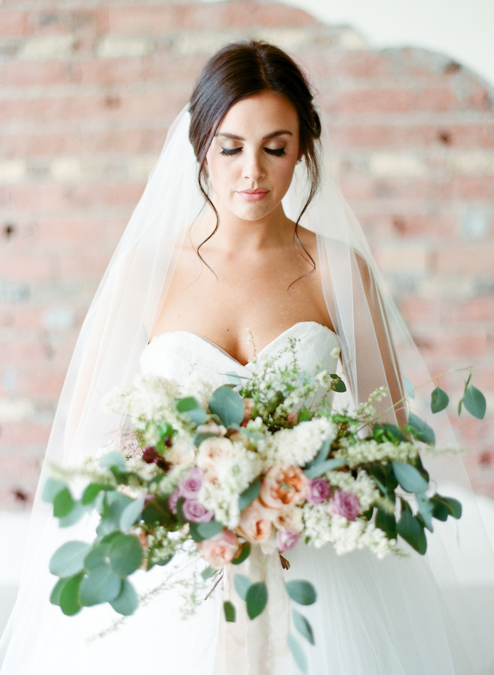 romantic bridal session with natural light