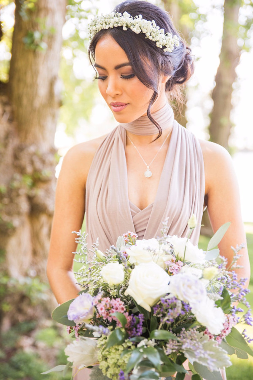 Bridesmaid hair and makeup idea