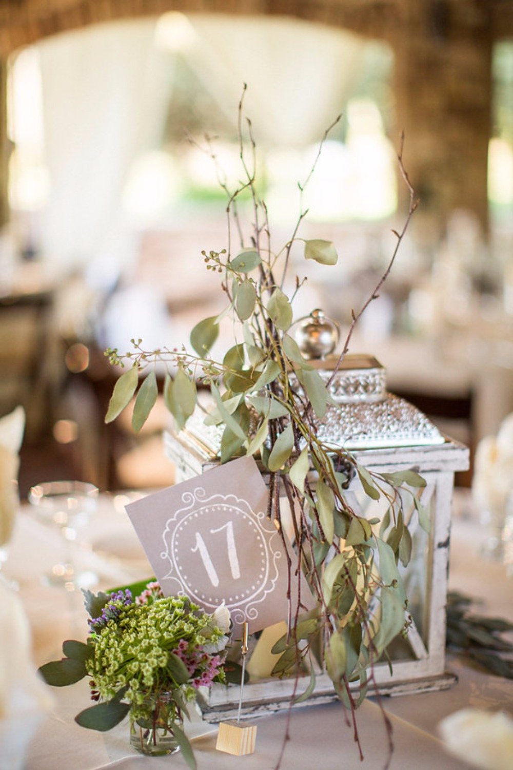 Centerpiece and table number idea
