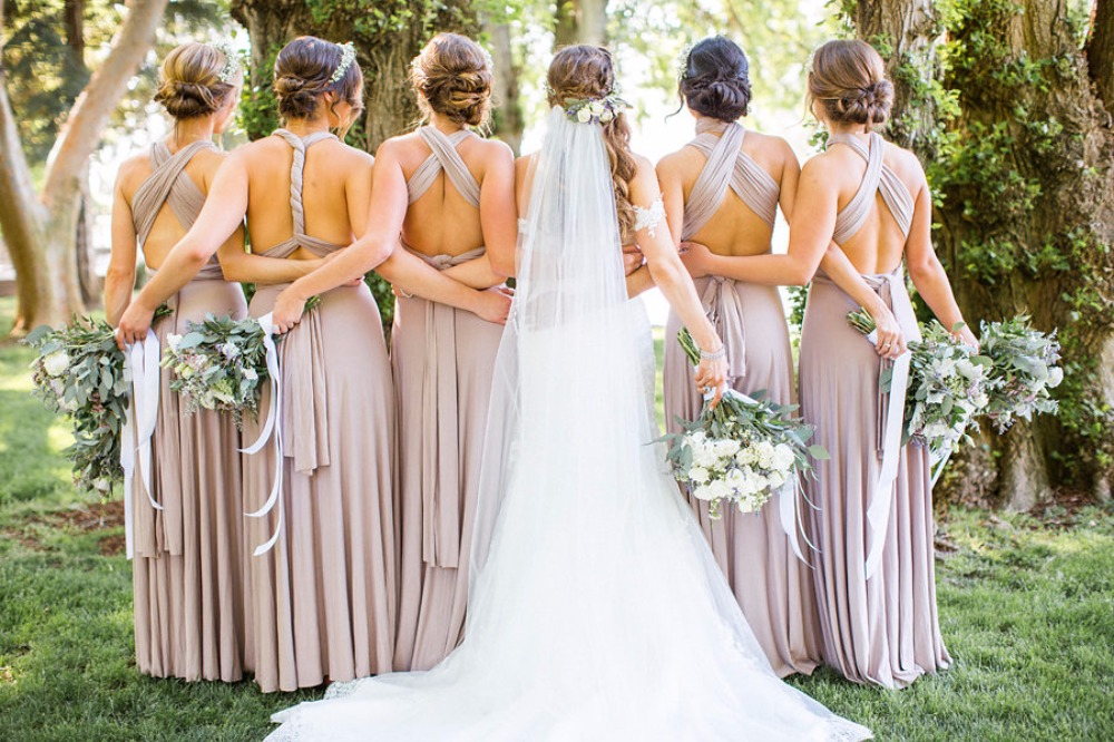 Back of bridesmaid dresses