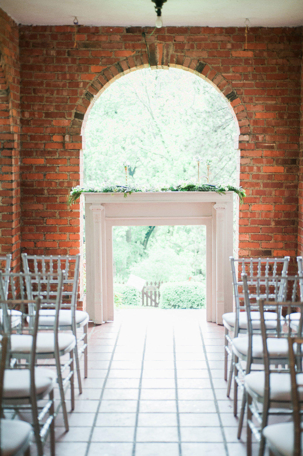 gorgeous brick open air wedding ceremony venue