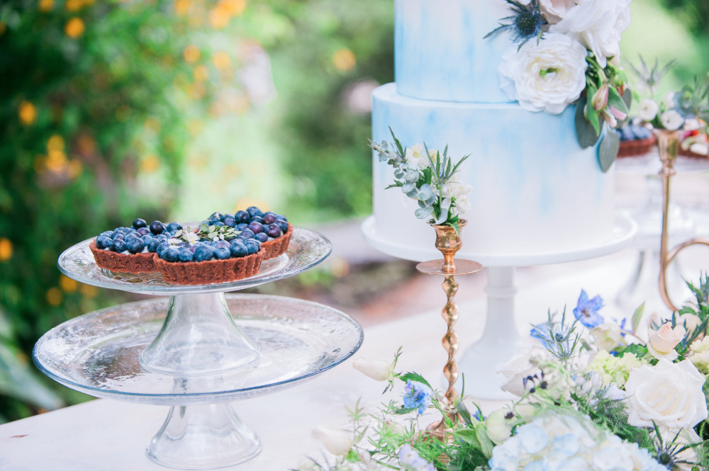 blueberry wedding desserts